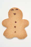 cookie in the form of a human smiling