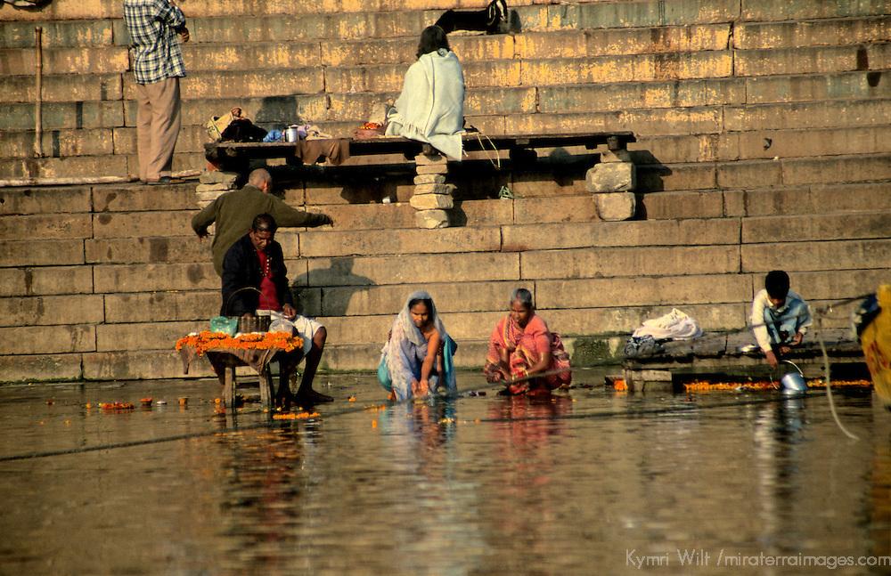 Asia, India, Varanasi. Ghats of Varanasi.