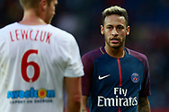 Paris Saint Germain's Brazilian forward Neymar Jr looks on during the French Championship Ligue 1 football match between Paris Saint-Germain and Girondins de Bordeaux on September 30, 2017 at the Parc des Princes stadium in Paris, France - Photo Benjamin Cremel / ProSportsImages / DPPI