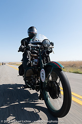 George Unruh riding his 1924 Harley-Davidson JDCA in the Motorcycle Cannonball coast to coast vintage run. Stage 10 (299 miles) from Sturgis, SD to Billings, MT. Tuesday September 18, 2018. Photography ©2018 Michael Lichter.