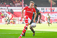Cauley Woodrow of Barnsley (9) in action during the EFL Sky Bet League 1 match between Barnsley and Shrewsbury Town at Oakwell, Barnsley, England on 19 April 2019.