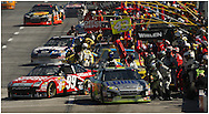 HAMPTON, GA: Carl Edwards leaves the pits during the Pep Boys Auto 500 at Atlanta Motor Speedway on Sunday10/26/08. ©2008 Johnny Crawford