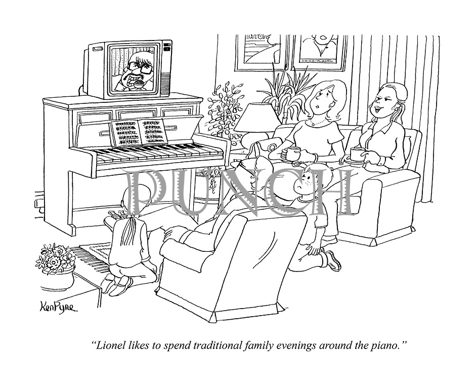 """Lionel likes to spend traditional family evenings around the piano."""