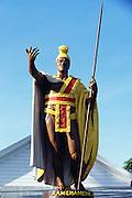 King Kamehameha statue, Keeau, Hawi, Island of Hawaii