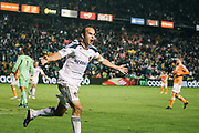during the second half of the MLS Cup championship soccer match, Sunday, Nov. 20, 2011, in Carson, Calif. (AP Photo/Bret Hartman)