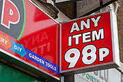 Any item 98p a shop that recently opened on Kingsland Road, Dalston London.