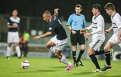 Falkirk's Phil Roberts.<br /> Falkirk 3 v 1 Raith Rovers, Scottish Championship game at The Falkirk Stadium.