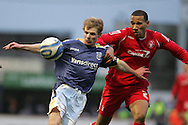 Chris Burke of Cardiff City. Coca cola championship, Cardiff City v Nottingham Forest at Ninian Park in Cardiff on Sat 31st Jan 2009..pic by Andrew Orchard, Andrew Orchard sports photography,