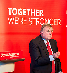 Former Deputy Primie Minister Lord Prescott gives a speech at a campaign event in Kirkcaldy.<br /> <br /> © Dave Johnston/ EEm