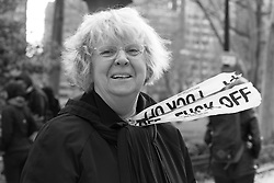 An interview with a Biologist from Poland who is a United States Citizen las women march in a protest in Philadelphia, PA when President Trump and the United States Congress attend a retreat at Loews Hotel on Market Street.