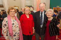 (l to r) Sandra Moore, Pauline Noble, Cedric Fisher, and Elizabeth Fisher at the reunion night to celebrate 50 years of the Irish Fireball Class, held at the Royal St George YC.