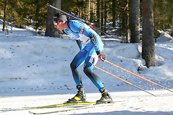 Quentin Fillon Maillet of France competes during the IBU World Championships Biathlon 15 km Mass start Men competition on February 21, 2021 in Pokljuka, Slovenia. Photo by Vid Ponikvar / Sportida