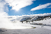 Winter scenic in Yellowstone National Park, Thermal feature