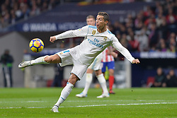 November 18, 2017 - Madrid, Spain - Cristiano Ronaldo during the Spanish Primera Division match between Atletico Madrid v Real Madrid at the Estadio Wanda Metropolitano on November 18, 2017 in Madrid Spain  (Credit Image: © Mateo Villalba/NurPhoto via ZUMA Press)
