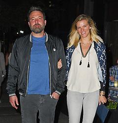 Ben Affleck and Lindsay Shookus grab dinner on the Upper West Side. 10 Sep 2017 Pictured: Ben Affleck and Lindsay Shookus. Photo credit: MEGA TheMegaAgency.com +1 888 505 6342
