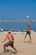 Volleyball Game Manhattan Beach, Los Angeles Basin, Southern California Coast