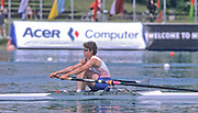 Munich, GERMANY   GBR W1X Guin BATTEN, 1998 FISA World Cup, Munich Olympic Rowing Course, 29-31 May 1998.  [Mandatory Credit, Peter Spurrier/Intersport-images] 1998 FISA World Cup, Munich, GERMANY