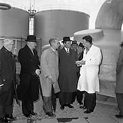 15/01/1962<br /> 01/15/1962<br /> 15 January 1962<br /> Opening of new Sulphuric Acid Plant at Sulphac Ltd., East Wall, Dublin. Minister for Industry and Commerce, Mr Jack Lynch officially opened the plant. The plant was blessed by V. Rev. Fr. F. Hooke, Parish Priest St. Joseph's,  East Wall. Sulphac Ltd. was jointly owned by W. and H.M. Goulding Ltd. and Freeport Sulpher Company of New York. Picture shows Minister Jack Lynch (2nd from right) touring the plant after the opening. Also in the picture (l-r): Mr Samuel Merrin, Director, Goulding Fertilisers Ltd.; Dr. J.P. Beddy, Industrial Development Authority; Sir Basil Goulding, Chairman, Goulding Fertilisers Ltd.  and Mr. G.T. Bowker, Acid Section Manager.