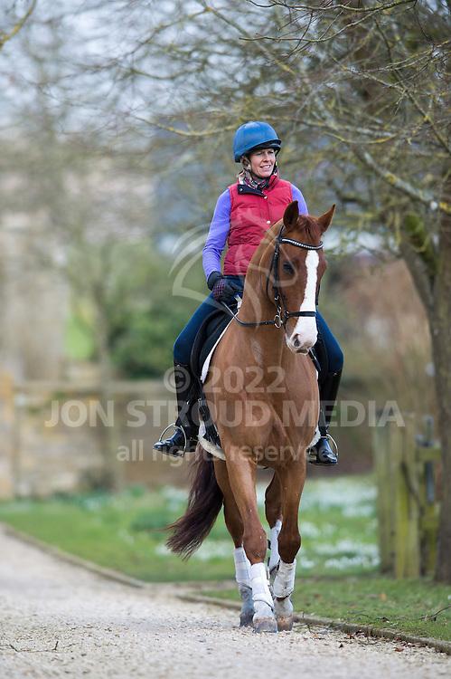 Horse Magazine Shoot - Newho Stables, Tetbury, Gloucestershire, United Kingdom - 23 February 2013