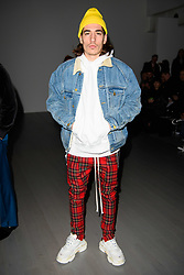 Hector Bellerin on the front row during the Christopher Raeburn London Fashion Week Men's AW18 show, held at the BFC Show space, London. Picture date: Sunday January 7th, 2018. Photo credit should read: Matt Crossick/ EMPICS Entertainment.