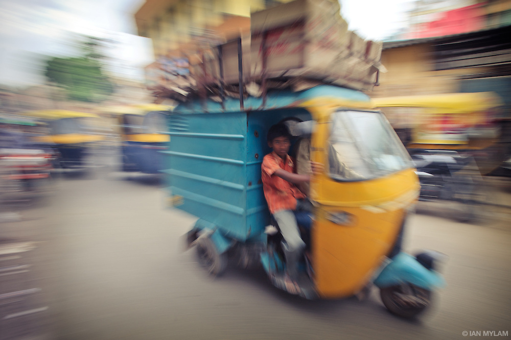 Rickshaw Traffic - Bangalore, India