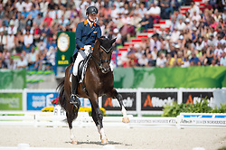 Diederik Van Silfhout, (NED), Arlando NH NOP - Freestyle Grand Prix Dressage - Alltech FEI World Equestrian Games™ 2014 - Normandy, France.<br /> © Hippo Foto Team - Jon Stroud<br /> 25/06/14