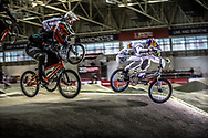 #279 (JONES Trent) NZL and #33 (DAUDET Joris) FRA at the 2016 UCI BMX Supercross World Cup in Manchester, United Kingdom<br /> <br /> A high res version of this image can be purchased for editorial, advertising and social media use on CraigDutton.com<br /> <br /> http://www.craigdutton.com/library/index.php?module=media&pId=100&category=gallery/cycling/bmx/SXWC_Manchester_2016