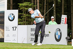 25.06.2015, Golfclub München Eichenried, Muenchen, GER, BMW International Golf Open, Tag 1, im Bild David Howell (ENG) am Abschlag, Tee // during day one of the BMW International Golf Open at the Golfclub München Eichenried in Muenchen, Germany on 2015/06/25. EXPA Pictures © 2015, PhotoCredit: EXPA/ Eibner-Pressefoto/ Kolbert<br /> <br /> *****ATTENTION - OUT of GER*****