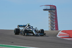 November 3, 2019, Austin, TX, USA: AUSTIN, TX - NOVEMBER 03: Mercedes AMG Petronas Motorsport driver Valtteri Bottas (77) of Finland enters turn 10 during the F1 - U.S. Grand Prix race at Circuit of The Americas on November 3, 2019 in Austin, Texas. (Photo by Ken Murray/Icon Sportswire) (Credit Image: © Ken Murray/Icon SMI via ZUMA Press)