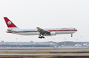I-AIGG Meridiana Boeing 767 . Photographed at Malpensa airport, Milan, Italy