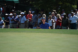 August 10, 2018 - St. Louis, Missouri, United States - Chris Wood looks out of a greenside bunker on the 9th hole during the second round of the 100th PGA Championship at Bellerive Country Club. (Credit Image: © Debby Wong via ZUMA Wire)