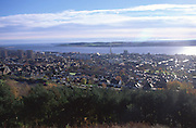 View over the city of Dundee and the River Tay estuary, Scotland