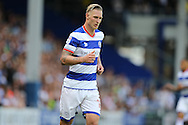 Sebastian Polter of QPR looks on. Skybet EFL championship match, Queens Park Rangers v Leeds United at Loftus Road Stadium in London on Sunday 7th August 2016.<br /> pic by John Patrick Fletcher, Andrew Orchard sports photography.