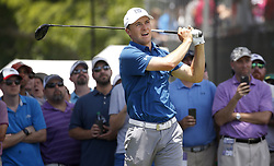 May 25, 2018 - Fort Worth, TX, USA - Jordan Spieth tees off on number 3 during the second day of the Invitational at Colonial Friday, May 25, 2018 in Fort Worth, Texas. (Credit Image: © Brad Loper/TNS via ZUMA Wire)