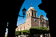 The 19th-century Church of Santiago the Apostle in Tequila's town square.