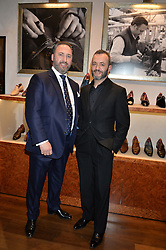 Left to right, DEAN GIRLING and TONY GAZIANO at a party to launch the Gaziano & Girling Ladies Collection held at Gaziano & Girling, 39 Savile Row, London on 5th April 2016.