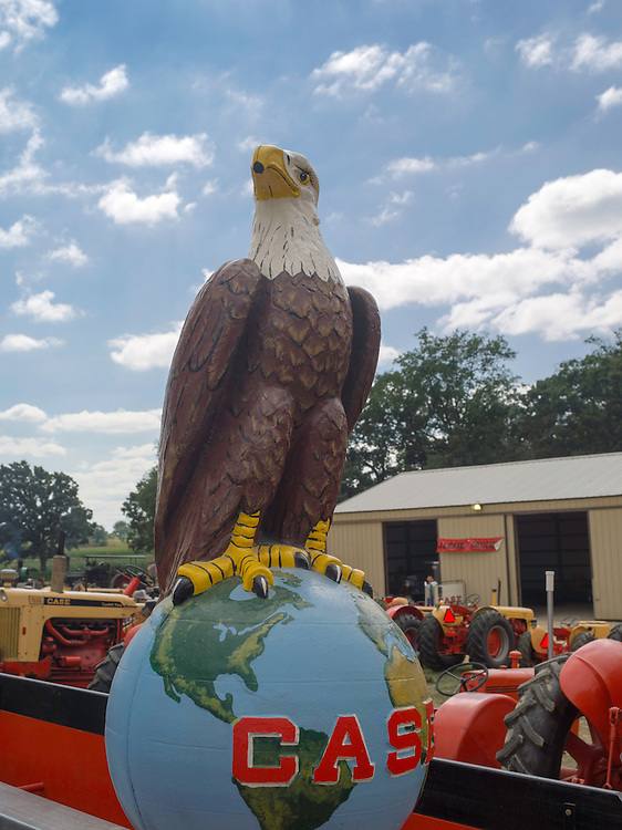 The J.I. Case Eagle; Antique steam tractors are on display the Rock River Thresheree near Edgerton, Wisconsin. 2 Sept 2013