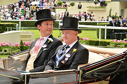 Left to right, the DUKE OF ARGYLL and MR WILLIAM FARISH at day two of the Royal Ascot 2016 Racing Festival at Ascot Racecourse, Berkshire on 15th June 2016.