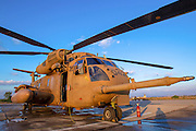 Israeli Air force (IAF) Sikorsky CH-53 helicopter on the ground
