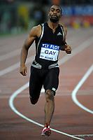 tyson gay vincitrore dei 100 mt uomini<br /> roma 10-07-2009<br /> stadio olimpico<br /> golden gala di atletica 2009<br /> foto massimo oliva insidefoto