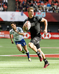 March 10, 2018 - Vancouver, British Columbia, U.S. - VANCOUVER, BC - MARCH 10: Scott Curry (#1) of New Zealand scores during Game # 1- New Zealand vs Scotland Pool D match at the Canada Sevens held March 10-11, 2018 in BC Place Stadium in Vancouver, BC. (Photo by Allan Hamilton/Icon Sportswire) (Credit Image: © Allan Hamilton/Icon SMI via ZUMA Press)
