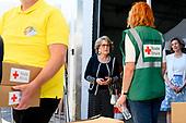 Werkbezoek van Prinses Margriet  aan het Rode Kruis