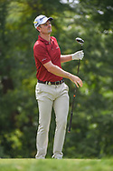 Justin Rose (GBR) watches his tee shot on 2 during 1st round of the 100th PGA Championship at Bellerive Country Club, St. Louis, Missouri. 8/9/2018.<br /> Picture: Golffile | Ken Murray<br /> <br /> All photo usage must carry mandatory copyright credit (© Golffile | Ken Murray)