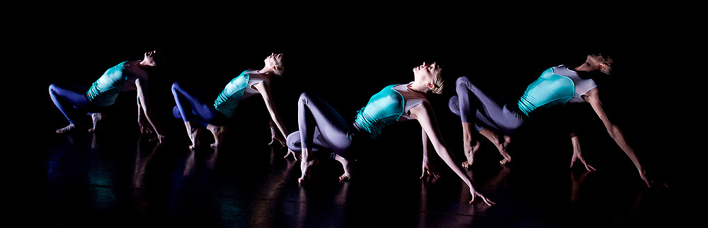 Julie Cunningham and Company<br /> Double Bill<br /> at The Pitt, Barbican Theatre, London, Great Britain <br /> 8th March 2017 <br /> <br /> Julie Cunningham <br /> Harry Alexander<br /> Alexander Williams<br /> Hannah Burfield<br />  <br /> Award-winning dancer and nominee of the 2016 Critics' Circle National Dance Award for Emerging Artist, Julie Cunningham launches her newly formed company, and makes her Barbican choreographic debut with an expressive double bill about gender and identity.<br />  <br /> Piece 1: Returning <br />  <br /> <br /> Photograph by Elliott Franks <br /> Image licensed to Elliott Franks Photography Services