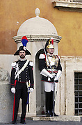 Ceremonial guards at Quirinale Palace, Rome, Italy.