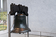 The crack of the Liberty Bell can be seen in this picture from Philadelphia, Pennsylvania.