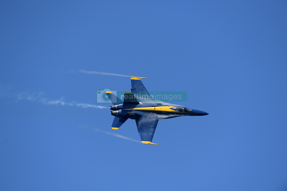 FORT LAUDERDALE, FL - MAY 04: U.S. Navy Blue Angels Team  performs in the Fort Lauderdale Air Show on May 4, 2019 in Fort Lauderdale, Florida...People:  U.S. Navy Blue Angels Team. (Credit Image: © SMG via ZUMA Wire)