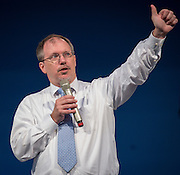 Dan Gohl comments during the New Teacher Academy held at the Kingdom Builders Center, July 31, 2014.
