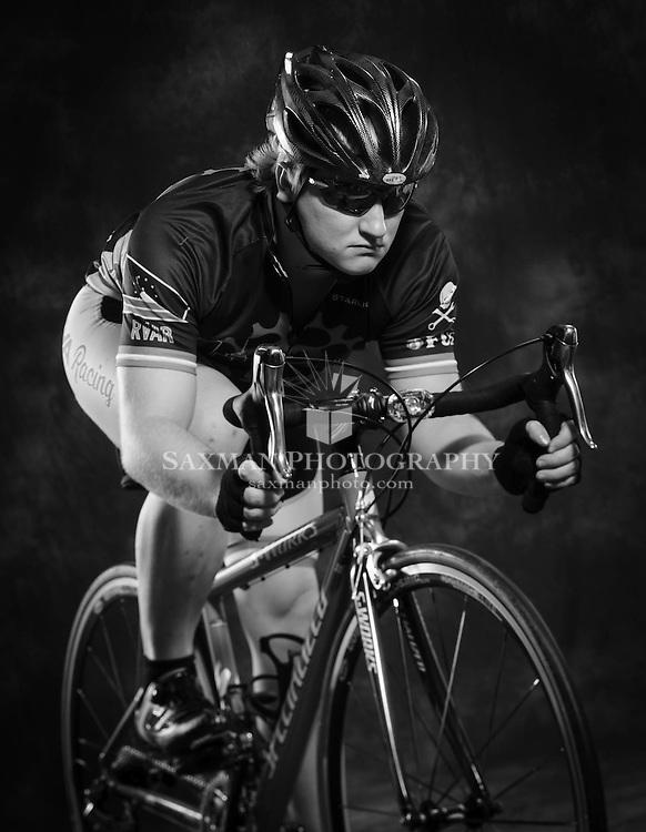 Studio Photography of Eric Sanders, cycling portrait