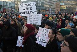 """Pussy grabs back"" protest rally in Berlin-Neukoelln against the election of Donald Trump as next US-president. - Berlin / 121116<br /> <br /> Protest-Kundgebung in Berlin-Neukoelln mit dem Motto ""Pussy grabs back"" gegen die Wahl von Donald Trump zum US-Präsidenten."